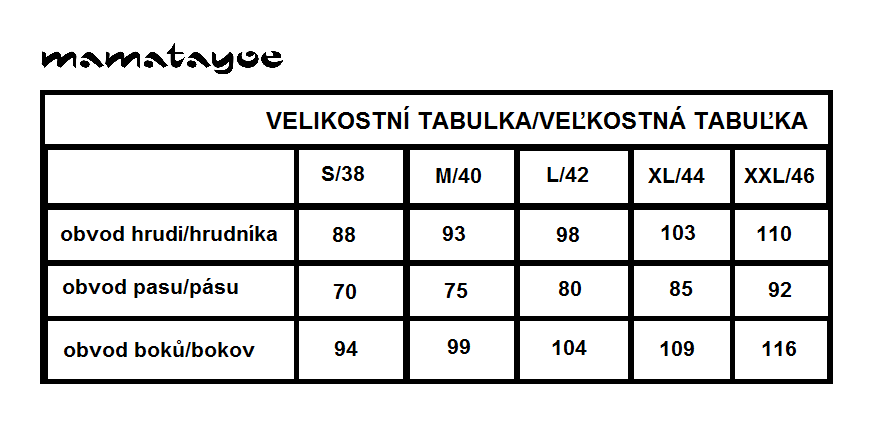 Velikostní tabulka MAMATAYOE cz a sk.png