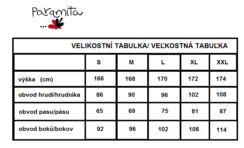 velikostní tabulka Paramita.png