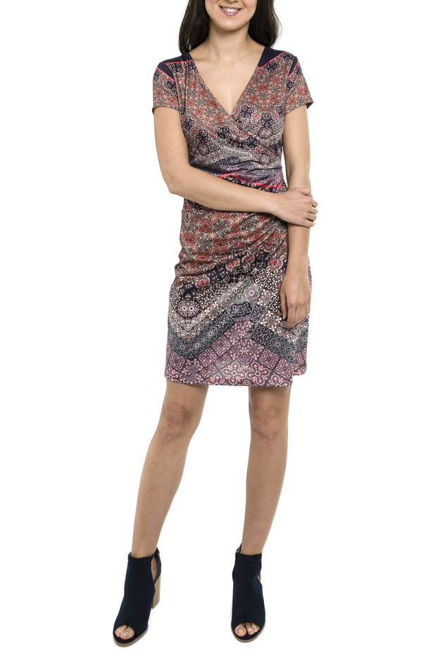 708f10833382 Dámské krátké šaty Smash! AVELINA růžové se vzorem · Akce ...