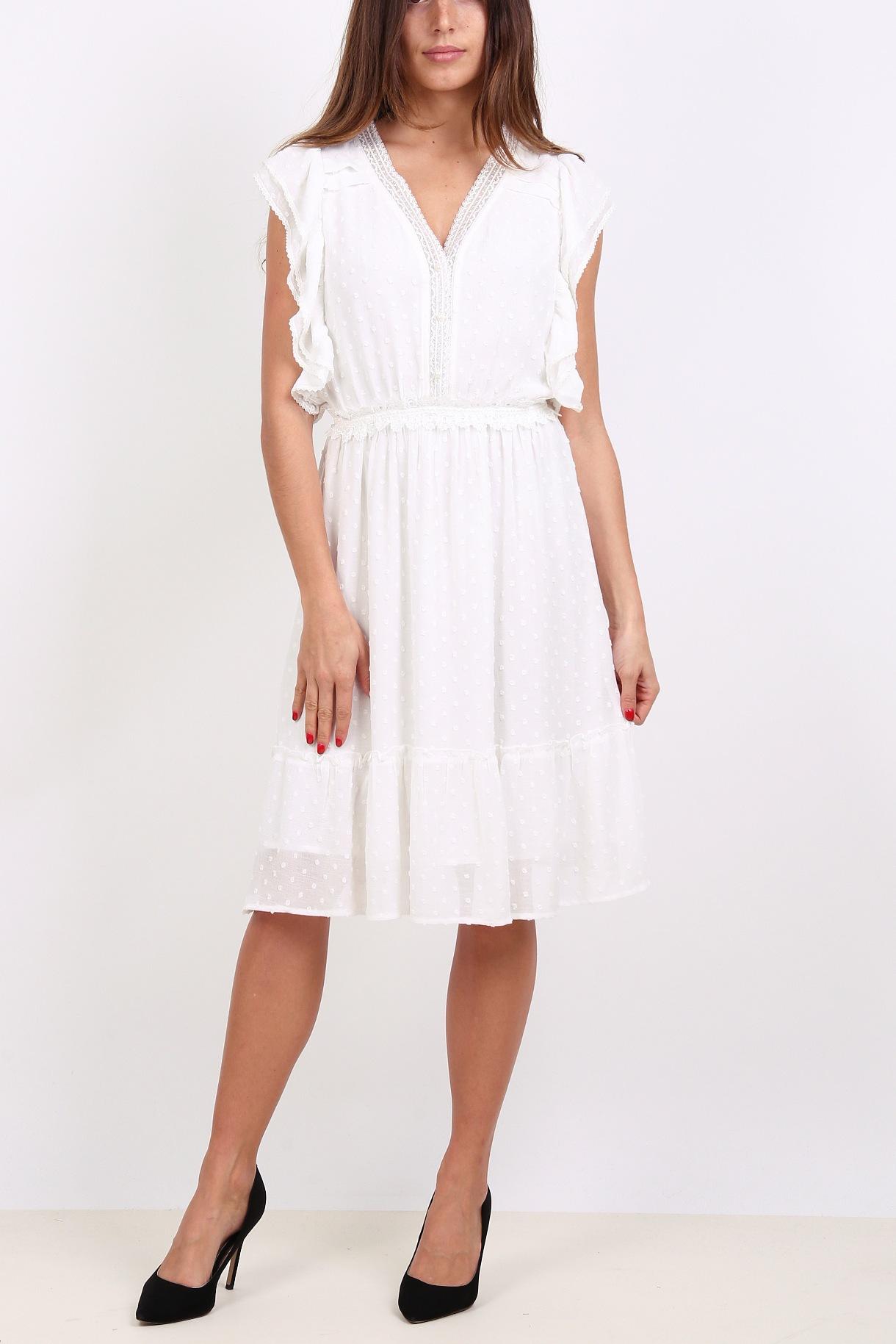 b3d9c52e4335 Dámské šaty Ryujee DUNE bílé