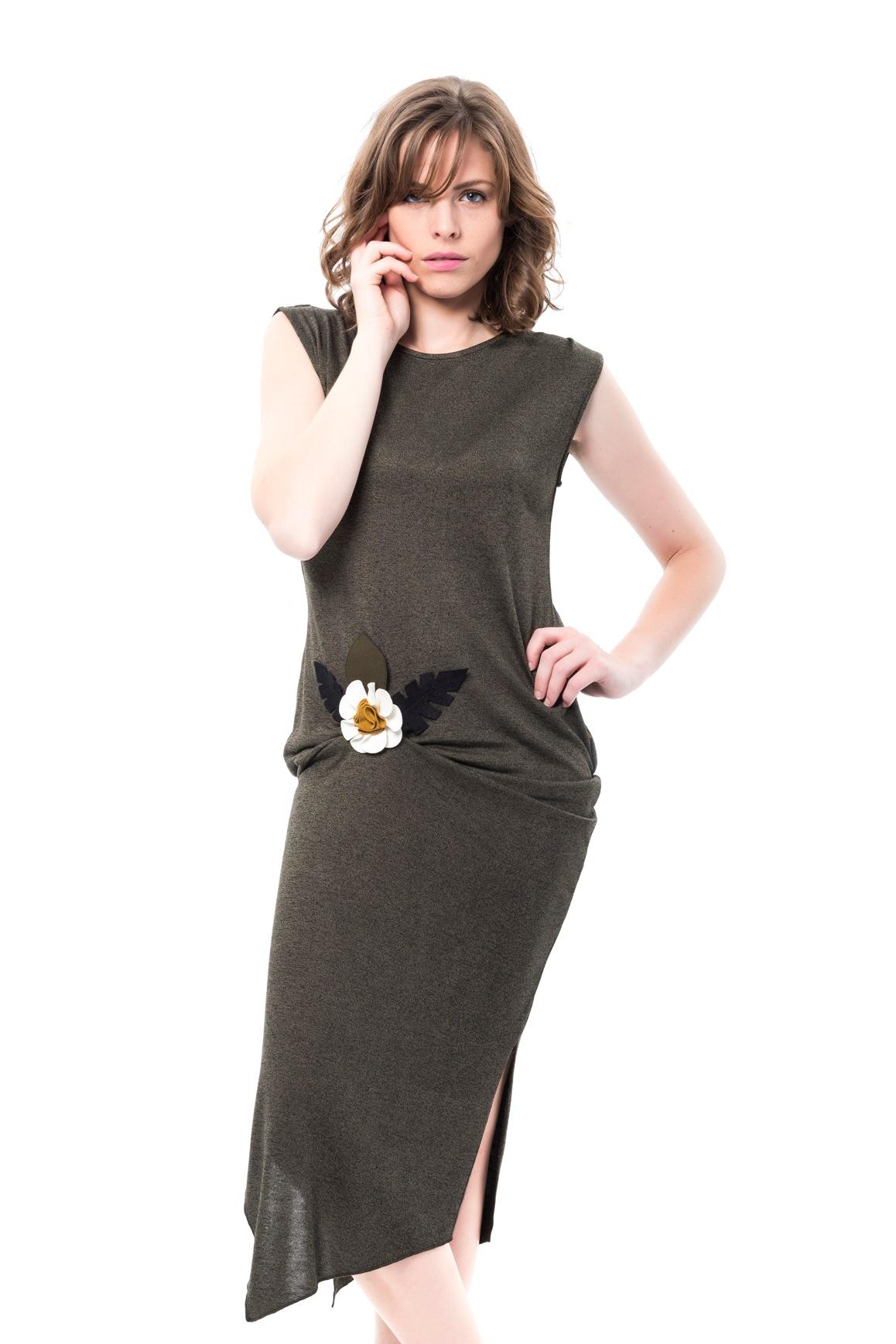 fd5ce12637c0 Dámské šaty Mamatayoe Genista tmavě zelené