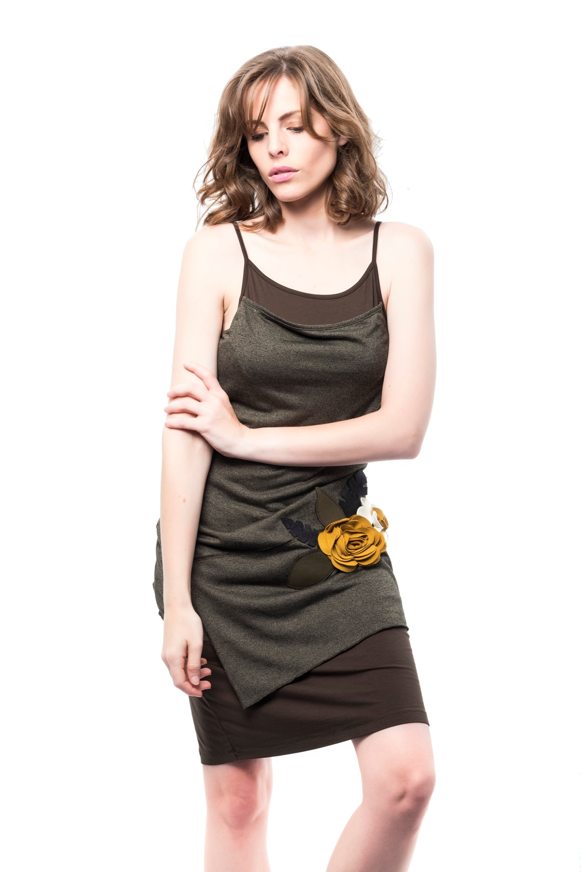 b222360fd3f5 Dámské šaty Mamatayoe Sabina tmavě zelené