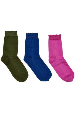 NÜmph 7119405 JACQUETTA 3-PACK Dámské ponožky 6000 MULTI COL. mix barev barev jedna velikost