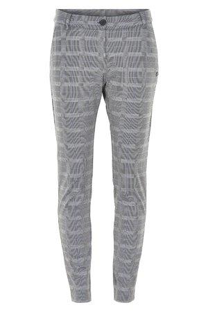 NÜmph 7119615 JELSA Dámské kalhoty 0517 GREY CHECK šedá