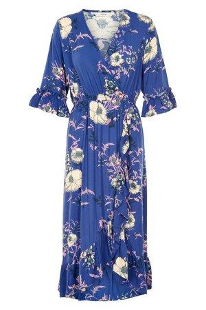 NÜmph 7119801 HUALI Dámské šaty 3023 MAZ. BLUE modrá