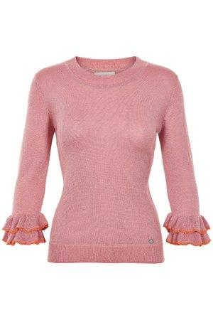 NÜmph 7219202 JAZLYNN Dámský sveter 2511 ROSETTE ružová