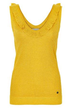 NÜmph 7219206 JIYA Dámský sveter 1011 MAIZE žltá