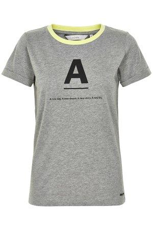 NÜmph 7219324 KATY Dámské tričko 0502M DRIZZLE šedá