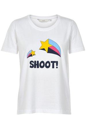 NÜmph 7219333 LARAS Dámské tričko 9000A B.WHITE biela