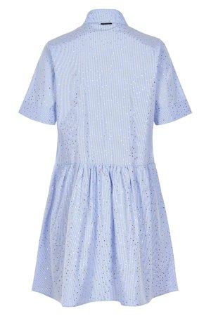 NÜmph 7219830 JEINLEE Dámské šaty 3028 BLUE STR. modrá