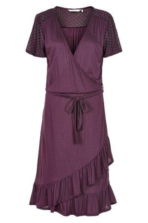 NÜmph 7219836 KENLEY Dámské šaty 3514 PLUM PER. fialová