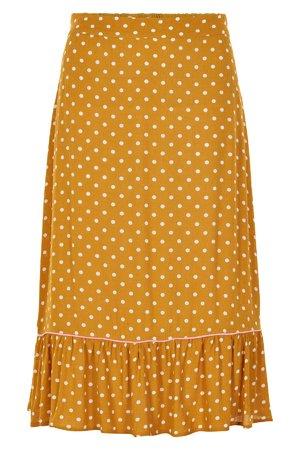 NÜmph 7319110 LEXY Dámská sukně 1015 TAWNY O. žlutá