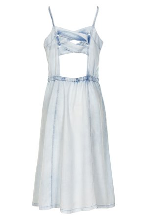 NÜmph 7319818 KIZZY Dámské šaty 3010 L.B.DENIM modrá