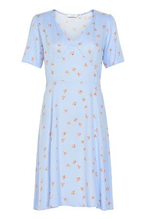 NÜmph 7319821 KRISTA Dámské šaty 3036 PLACID B. modrá