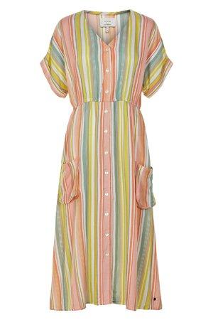NÜmph 7319825 LALANGE Dámské šaty 2518 PEACH NEC. oranžová