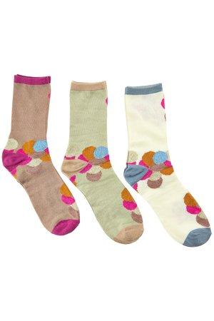 NÜmph 7519410 MIRRI 3-PACK GLITTER Dámské ponožky 6000 MULTI COL. mix barev barev jedna velikost