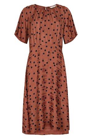NÜmph 7519815 MEENA Dámské šaty 5024 MAHOGANY hnědá