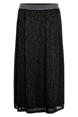NÜmph 7619106 NUMUIREANN SKIRT Dámská sukně 0000 CAVIAR černá