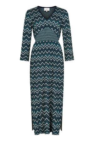 NÜmph 7619813 NUNADIDA KNIT DRESS Dámské šaty 3038 SAPPHIRE tmavě modrá