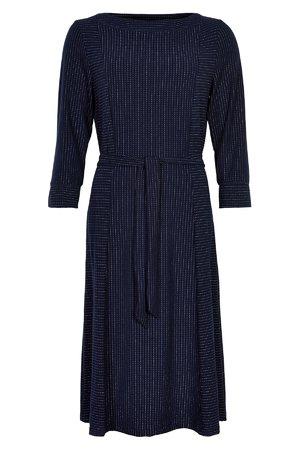NÜmph 7619820 NUMIRABEI JERSEY DRESS Dámské šaty 3038 SAPPHIRE tmavě modrá
