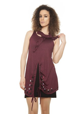 Mamatayoe AMALDI šaty tmavo červená