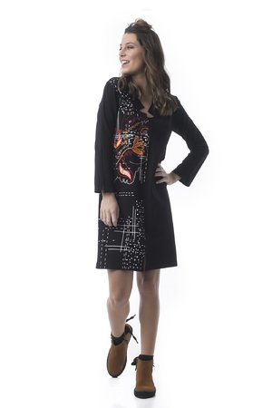Mamatayoe Coco Dámské šaty černá