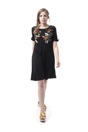 Mamatayoe Divina Commedia Dámské šaty černá