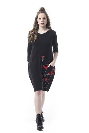 Mamatayoe Gajos Dámské šaty černá