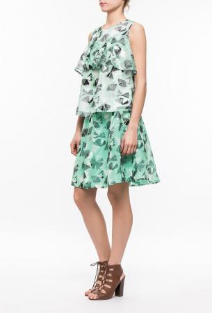 Ryujee KAMELIA sukně zelená