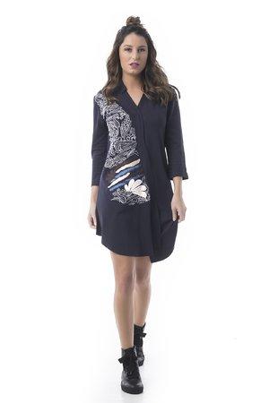 Mamatayoe Lyon Dámské šaty tmavě modrá