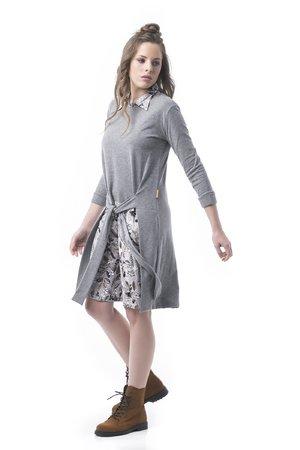 Mamatayoe Melange Dámské šaty šedá