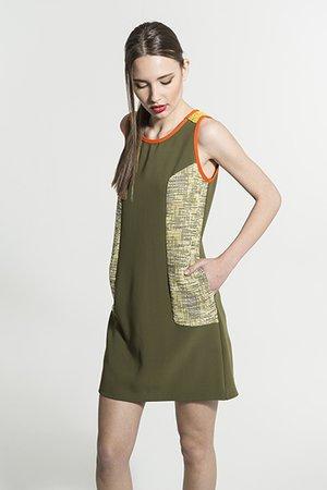 Smash MAYARA Dámské šaty tmavě zelená