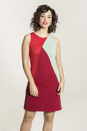 Smash NAMORA Dámské šaty červená