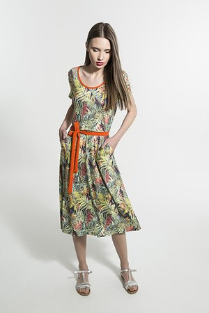 Smash COMPTA Dámské šaty zelená