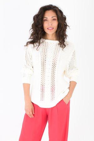 Smash JALIYAH Dámský sveter biela