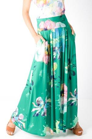 Smash CRYSTAL Dámská sukně zelená
