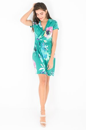 Smash OKAINA Dámské šaty zelená S (1983463)