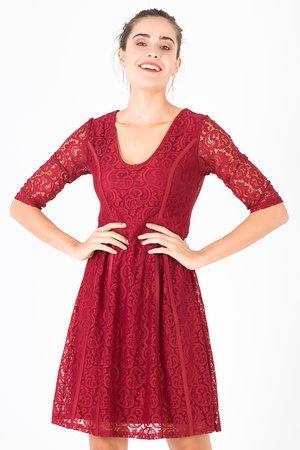Smash CADENCE Dámské šaty tmavo červená