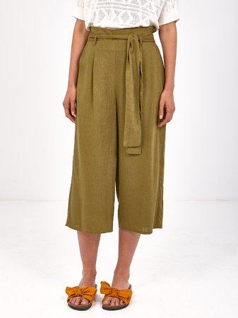 Smash HEMNES Dámské kalhoty tmavě zelená