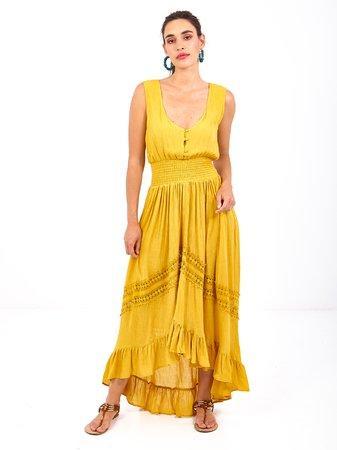 Smash ZENON Dámské šaty žlutá