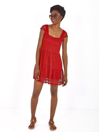 Smash MATAK Dámské šaty tmavě červená