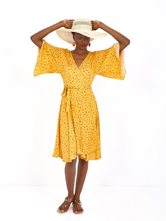 Smash MUSETTE Dámské šaty žlutá