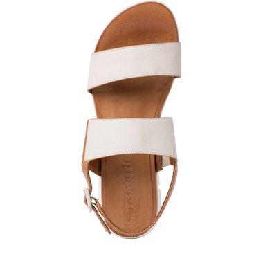 1-28190-34 Dámské boty 439 krémová velikost