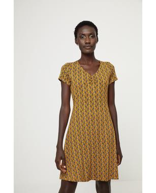 Surkana 511KENT715  Dámské šaty 10 žlutá