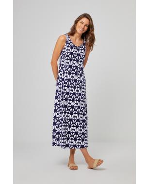 Surkana 521NAPI711  Dámské šaty 50 modrá