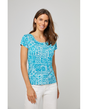 Surkana 521POKK011  Dámské tričko 53 modrá