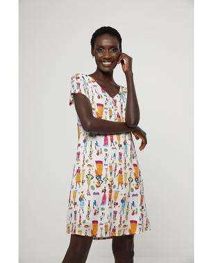 Surkana 521TIEB726  Dámské šaty 95 mix barev barev