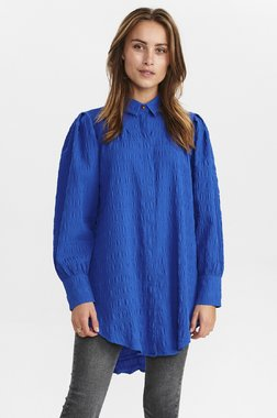Nümph 700857 NUCAMERON waistDámský kabát 3081 Princess Blue modrá