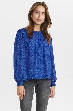 Nümph 700861 NUCALTUM waistDámský kabát 3081 Princess Blue modrá