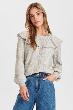Nümph 700956 NUCATHAY waistDámský kabát 0510 Light grey mel 0510 Light grey